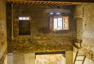 Construction du Caveau du Chateau, Ampuis